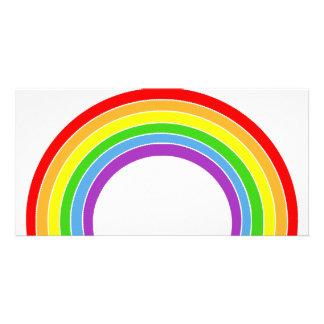 rainbow customized photo card