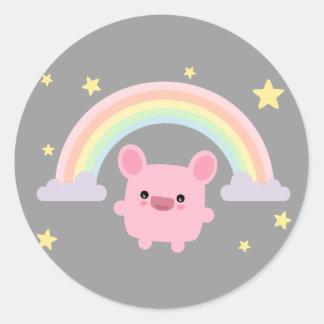 Rainbow Cutie Round Sticker