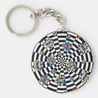 Rainbow Daisies Kaleidoscope Key Chains