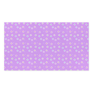 Rainbow Daisies on Lilac Pack Of Standard Business Cards