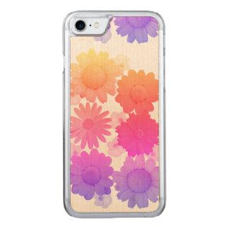 Rainbow Daisy Flowers Artsy Photography Carved iPhone 7 Case