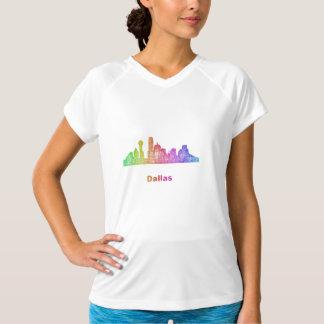 Rainbow Dallas skyline T-Shirt