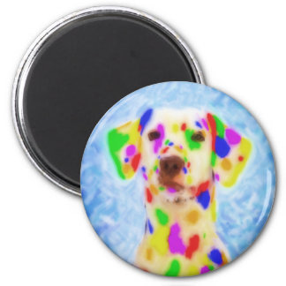 Rainbow Dalmatian Magnet