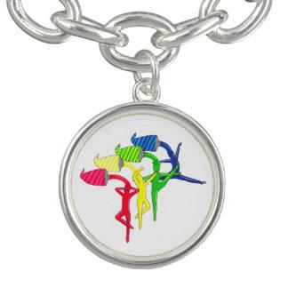 Rainbow Dancers charm bracelet