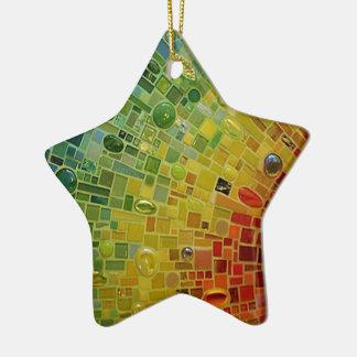 Rainbow Ceramic Star Decoration