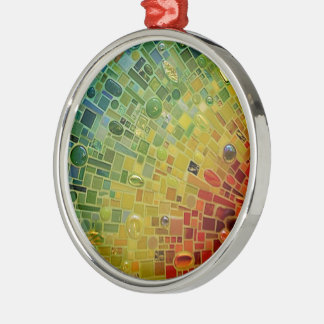 Rainbow Silver-Colored Round Decoration