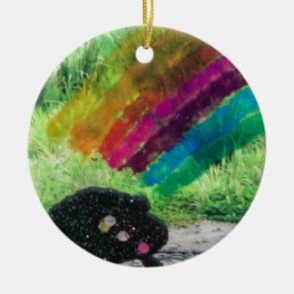Rainbow Round Ceramic Decoration