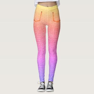 Rainbow Denim Skinny Jeans Leggings