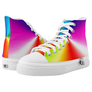 Rainbow Design Printed Shoes