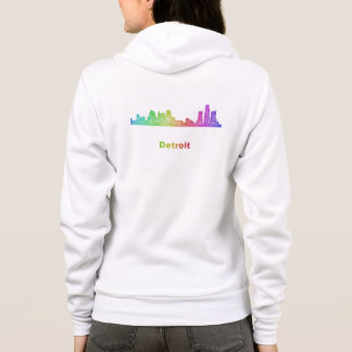 Rainbow Detroit skyline Hoodie