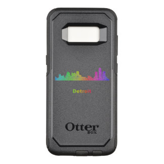 Rainbow Detroit skyline OtterBox Commuter Samsung Galaxy S8 Case