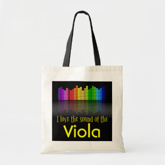 Rainbow Digital Sound Equalizer Viola Tote Bag