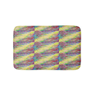 rainbow digital stripe bathmat