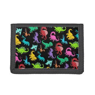Rainbow Dinosaurs Tri-fold Wallets