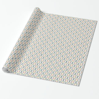 Rainbow DNA Strands Wrapping Paper