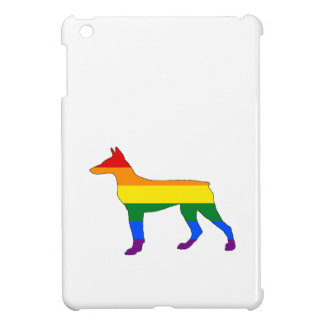 Rainbow Doberman iPad Mini Cases