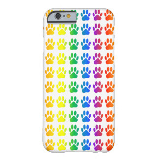 Rainbow Dog Pawprint Barely There iPhone 6 Case