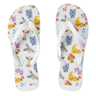 Rainbow dog thongs