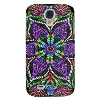 Rainbow Doily Mosaic Samsung Galaxy S4 Covers