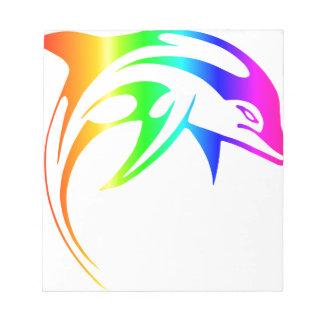 Rainbow Dolphin Notepad