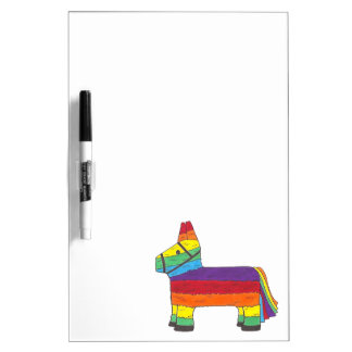 Rainbow Donkey Piñata Birthday Party Fiesta Pride Dry Erase Board