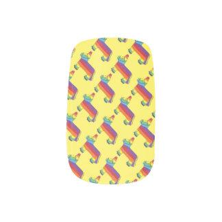 Rainbow Donkey Piñata Fiesta Birthday Party Pride Fingernail Transfers