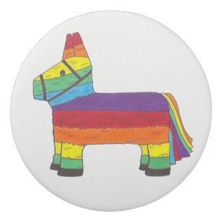 Rainbow Donkey Piñata Party Favor Fiesta Celebrate Eraser