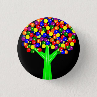 Rainbow Dotberry Tree 3 Cm Round Badge