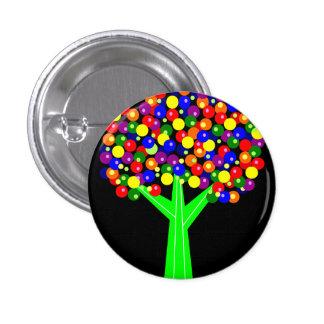 Rainbow Dotberry Tree 3 Cm Round Badge