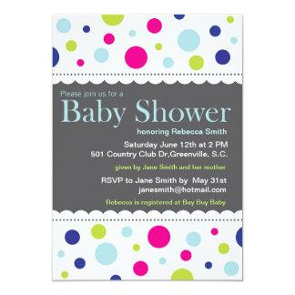 Rainbow Dots Baby Shower Invitation