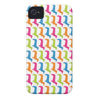 Rainbow Doxie Print Case-Mate iPhone 4 Case