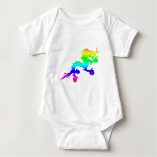 rainbow dragon baby bodysuit
