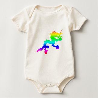 rainbow dragon baby bodysuit