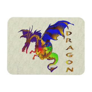 Rainbow Dragon Rectangular Photo Magnet