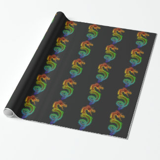 Rainbow Dragon Wrapping Paper
