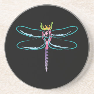Rainbow Dragonfly Coaster