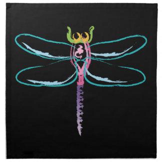 Rainbow Dragonfly Napkin
