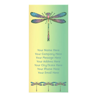 Rainbow Dragonfly Personalized Rack Card