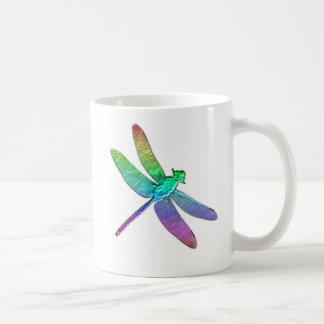 Rainbow dragonfly two coffee mug