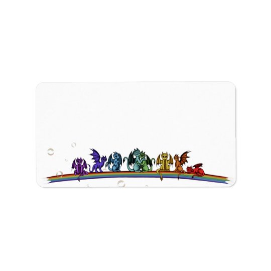 Rainbow Dragons Address Label