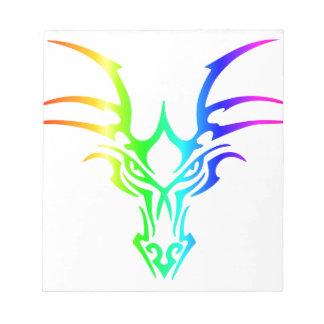Rainbow Dragon's Head Notepad