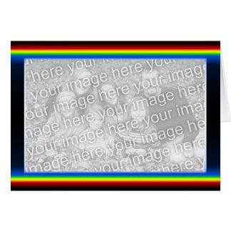 Rainbow Drama (wide) (photo frame) Greeting Card