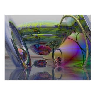 Rainbow dream world postcard