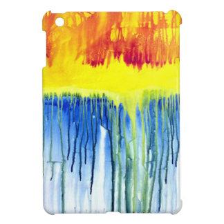 Rainbow Drip Painting iPad Mini Case