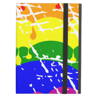 Rainbow Dripping Paint Distressed Cover For iPad Air