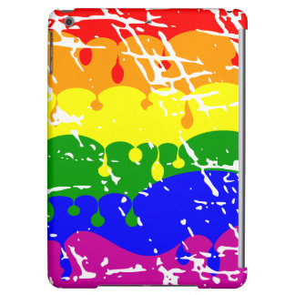 Rainbow Dripping Paint Distressed Case For iPad Air