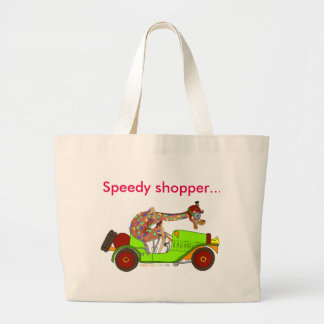 Rainbow Driving Fast Large Tote Bag