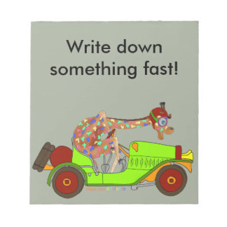 Rainbow Driving Fast Notepad