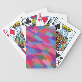 Rainbow Droplets Colorful Abstract Pattern Bicycle Playing Cards
