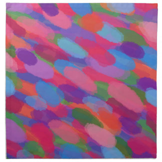 Rainbow Droplets Colorful Abstract Pattern Napkin